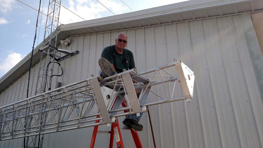 KC9ZAR New tower install